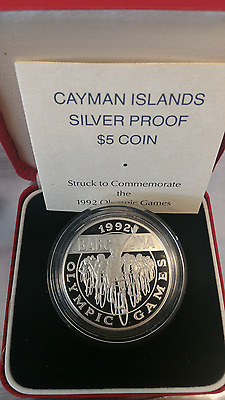 Bermuda 1992 5.00 Sterling silver PROOF Barcelona Olympics BOX and PAPERS