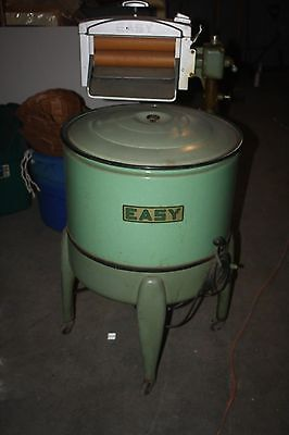 Awesome Vintage Green Splatterware Easy Washer Wringer Washing Machine Ex Cond