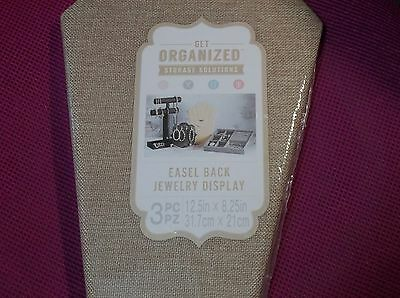 Easel Back Jewelry Display - Pack Of 3 - New