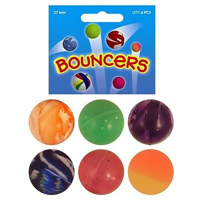 BOUNCY Jet BALLS 27mm Party Loot Bag Gifts Toys Fillers Childrens Kids Birthday