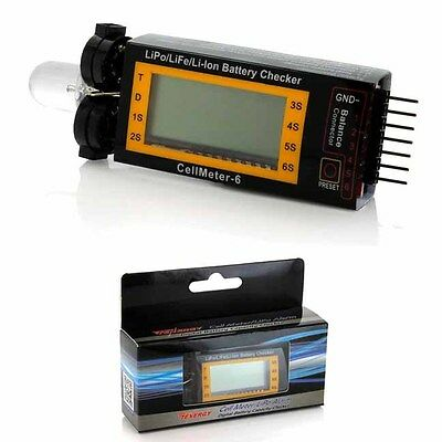 Tenergy Cell Meter LiPo Alarm Digital Battery Checker for LiPo/LiFePO4 Battery