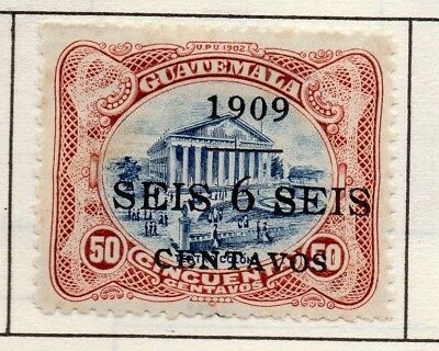 Guatemala 1902-22 Early Issue Fine Mint Hinged 6c. Surcharged Optd 139658