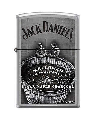 Zippo 1426, Jack Daniels Tennessee Whiskey Old No. 7, Brushed Chrome Lighter
