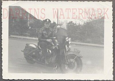 Vintage Photo Police Man Harley Davidson Motorcycle 752593