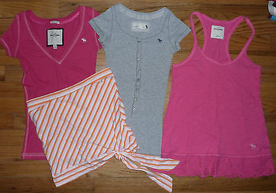 Lot Abercrombie Kids assorted short sleeve tops shirts tees blouses Girls Size M