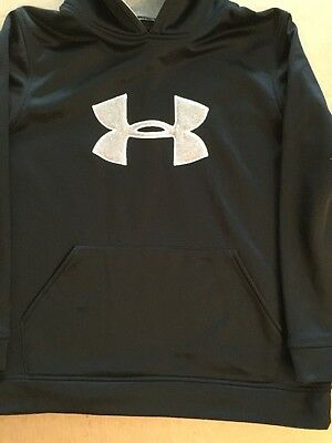UnderArmour Black Hoodie Sweatshirt Pullover Size YXL Youth XL Warm Front Pouch