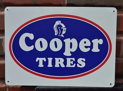 COOPER TIRES Vintage Logo Sign Advertising Repair Shop Logo Mechanic Garage