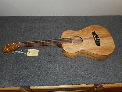 NEW Oscar Schmidt OU58 Spalted Maple Baritone Ukulele! A2
