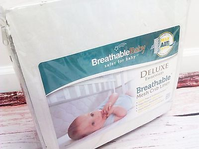 New BREATHABLE BABY Deluxe Embossed Mesh Crib Liner
