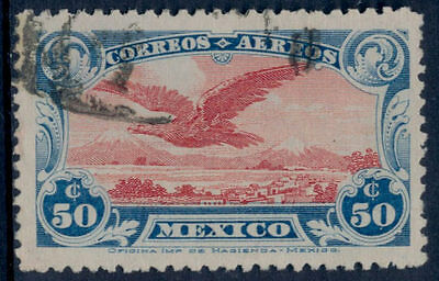 vq33 Mexico C1 50ctv Unwatermarked lightly used Sc $50 VF beauty.