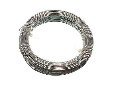 30M roll of Galvanised Garden Fence Wire - 1.6 Mm (10pk) each roll weighs 500g