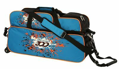 Columbia 3 Ball Tote Bowling Bag Blue/Orange with Shoe Pouch