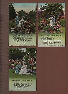 #4538 - If I Should Plant A Tiny Seed Of Love - Bamforth Songcard Set