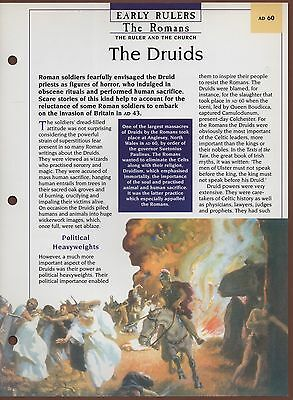The Druids - The Romans - The Ruler An - Early Rulers - Kings & Queens Maxi Card