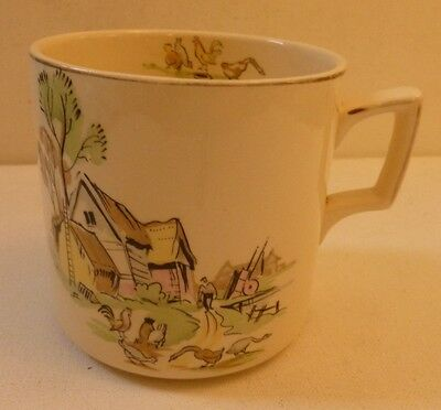 Alfred Meakin Pottery Down on the farm RARE PATTERN / SHAPE large mug / tankard