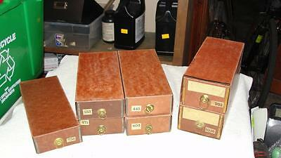 7 - 1877 Patent Brown Waxed Cardboard Roll Top Desk Pigeon Hole Drawer Insert
