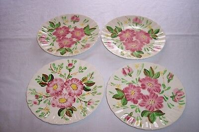 "Southern Pottery Blue Ridge Wild Rose 9 3/8"" Luncheon Plate"