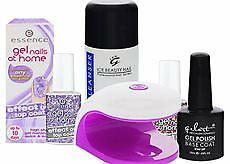 Gel Nägel Nageldesign Starter Set UV Lampe Basis Gel 2 x Top Coat Reiniger