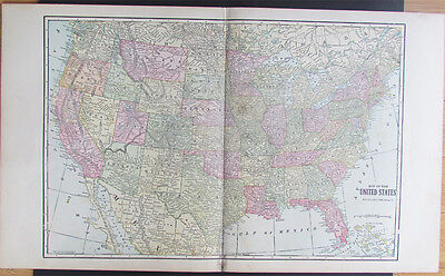 Vintage Map of UNITED STATES Published by GEO. F. Cram