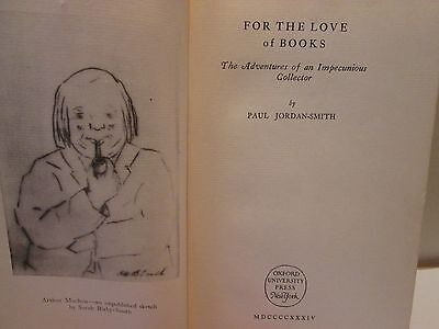 'For the Love of Books' by Paul Jordan-Smith, 1934 first edition, signed