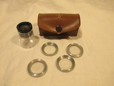 Bausch Lomb measuring magnifier w/ 4 scales 7x 81-34-35 vintage magnifying glass
