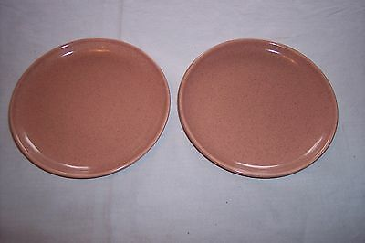 Pair of American Modern Russel Wright Coral Bread Plates