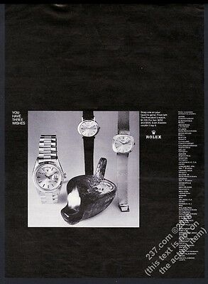 1968 Rolex President etc 3 watch photo vintage print ad