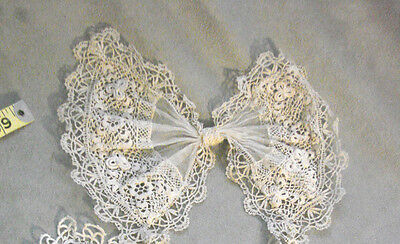 Vintage Collar BOW Crocheted Edwardian 20s Antique