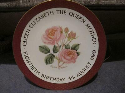 Three Limited Edition Queen Mother Plates, Worcester, Coalport & Caverswall