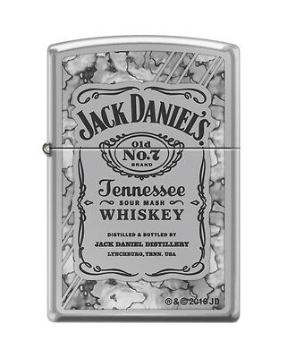 Zippo 0042, Jack Daniels Tennessee Whiskey, Fusion, High Polish Chrome Lighter