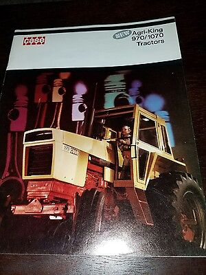 1970's Case 970 1070 Agri King Tractor Brochure