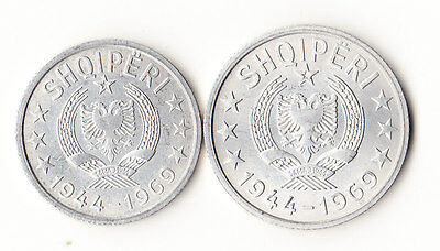 1969 Albania 10 & 20 Qindarka - Lot of 2 Coins #764
