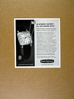 1965 Girard Perregaux Gyromatic Watch photo vintage print Ad