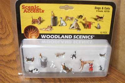 Woodland Scenics  Dogs & Cats  O Scale Figures