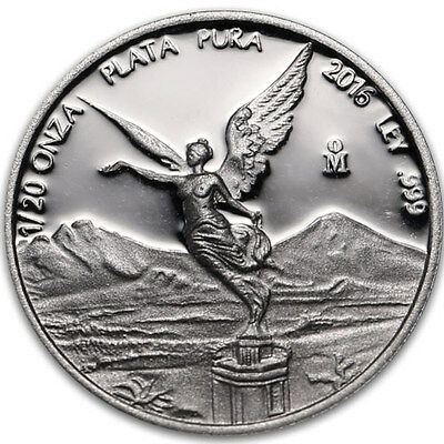 2016 Mexico Libertad Proof Silver 1/20 Oz. .999 Fine Silver Coin Low Mintage