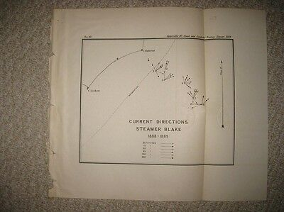 Rare Antique 1889 Cape Lookout Hatteras Outer Banks North Carolina Steamer Map