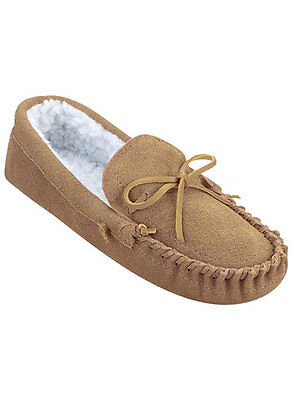 NEW*Genuine Suede Mens Indoor Moccasin Slippers/Several sizes and color choices!