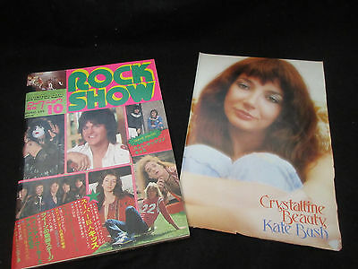 Rock Show Japan Book Oct 1978 Kate Bush Queen Freddie KISS Van Halen Thin Lizzy