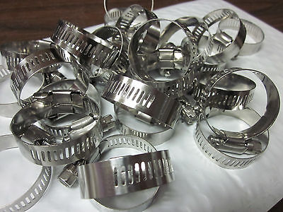 "25pc 1-1/2"" CLAMP STAINLESS STEEL HOSE CLAMPS 1"" - 1-1/2"" GOLIATH INDUSTRIAL"