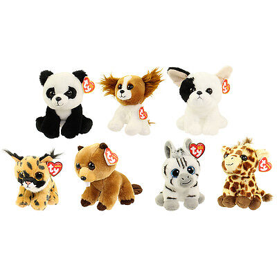 TY Beanie Babies - SET of 7 JANUARY RELEASES (6 inch) (Larry, Peaches, Marcel+4)