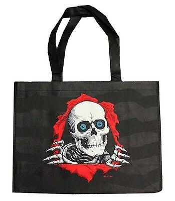 "Powell Peralta RIPPER Canvas Tote Shopping Bag BLACK SMALL 15""x 11""x 6"""