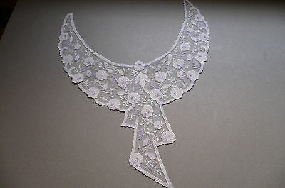 Antique Embroidered Collar. Cotton & Silk. Very Fine. Exc. Cond.