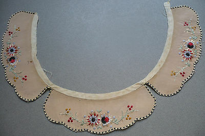 Antique Embroidered Childrens' Collars (3) 1950's. Embroidered Cotton. Dolls?
