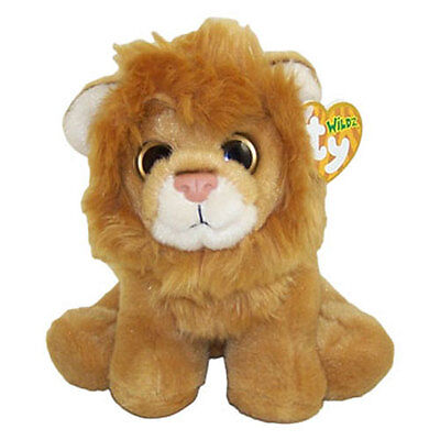 TY Classic Plush - KINGSTON the Lion (Wildz Tag - 8 inch) - MWMTs Stuffed Animal