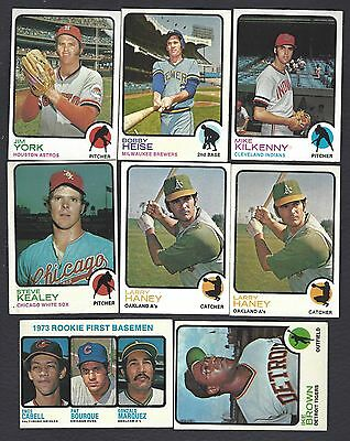 1973 Topps High Numbers Baseball Finish Your Set U Pick EX-MT NM Revised