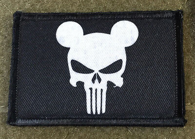 Mickey Mouse PUNISHER FLAG ARMY MORALE Tactical Military Army Funny Hook USA