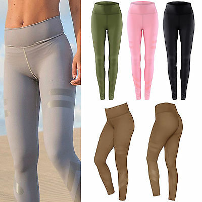 Womens Exercise Sports Pants Yoga Fitness Leggings Gym Running Athletic Clothes
