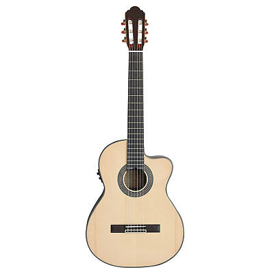 Artist CS100CEQ Classical Guitar, Solid Spruce Top with Cutaway and EQ - New