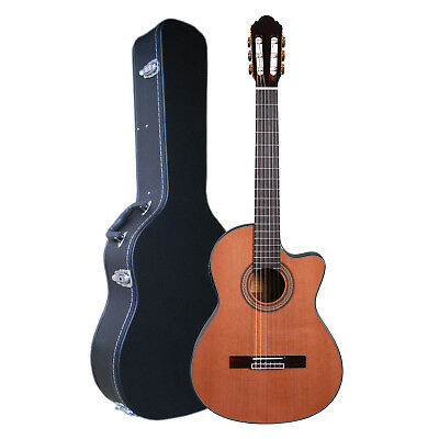 Artist HG39303CEQ+C Classical Guitar Solid Cedar Top + EQ + Case - New