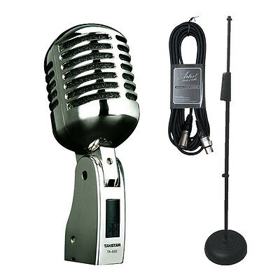 Takstar TA55DPK - Vintage Dynamic Vocal Microphone + Stand and Cable - New